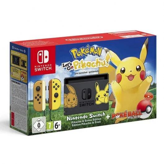 Nintendo Switch Pokémon: Lets Go Pikachu + Poké Ball Plus Edición Limitada