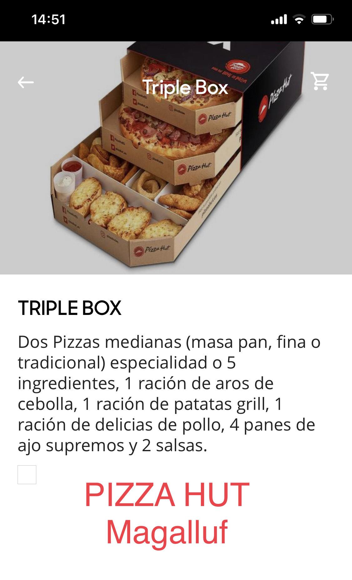 Triple Box Pizza Hut