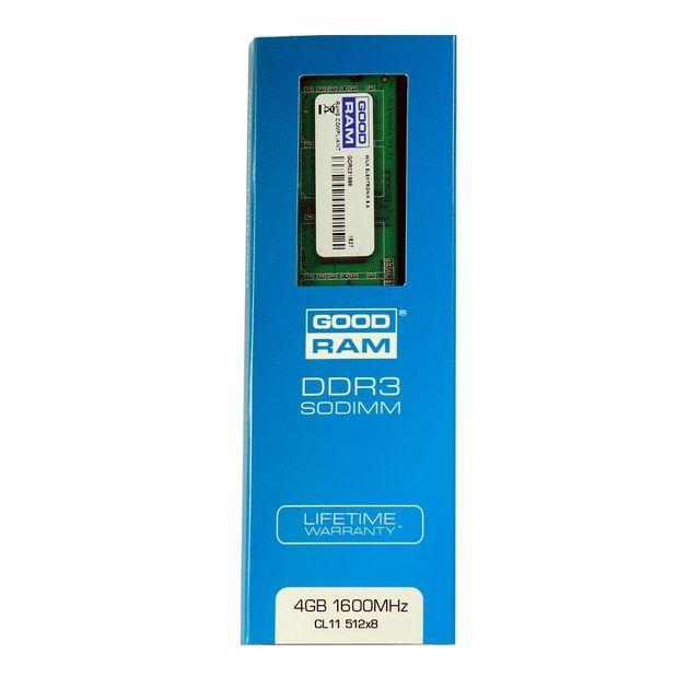 4GB RAM DDR3 SODIMM (1.5V) - GOODRAM