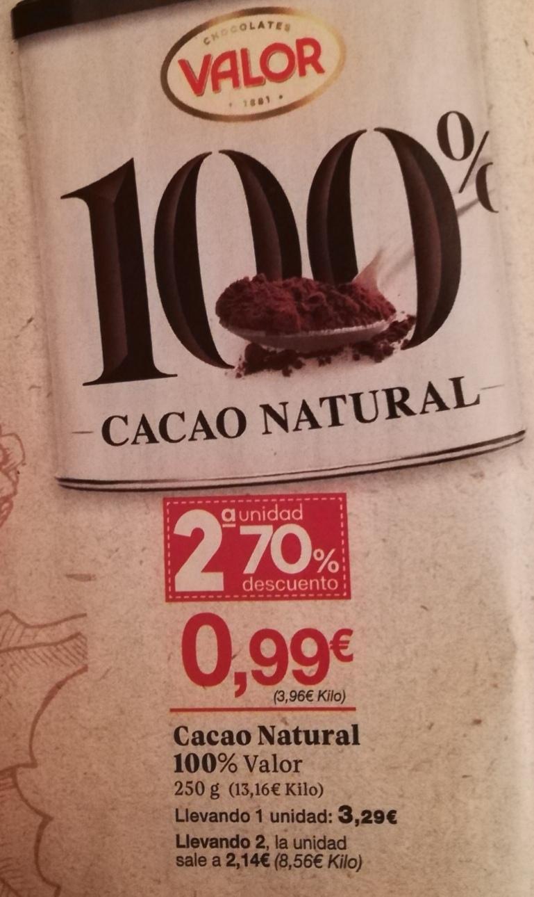 Valor Cacao Natural 100%. Gadis