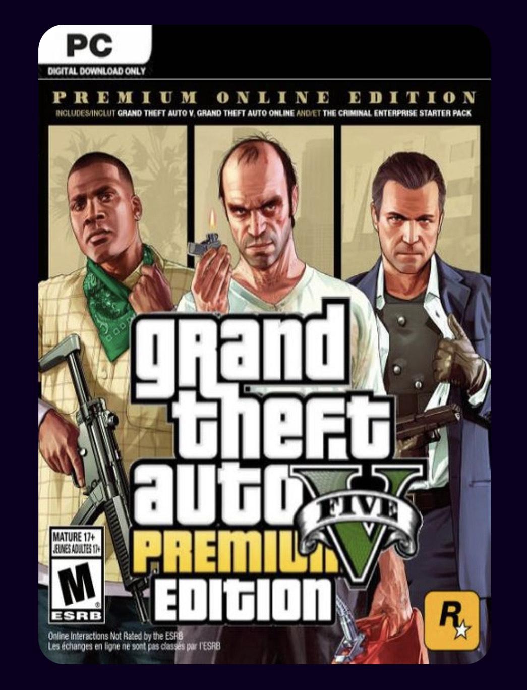 GTA V PREMIUM ONLINE EDITION PC