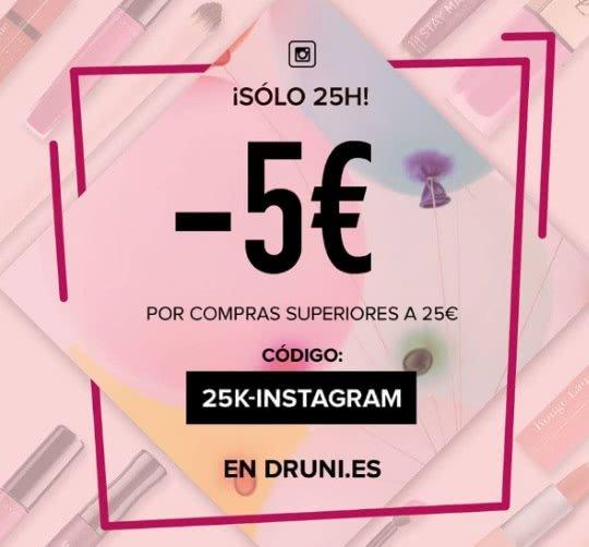 5 Euros de descuento en DRUNI