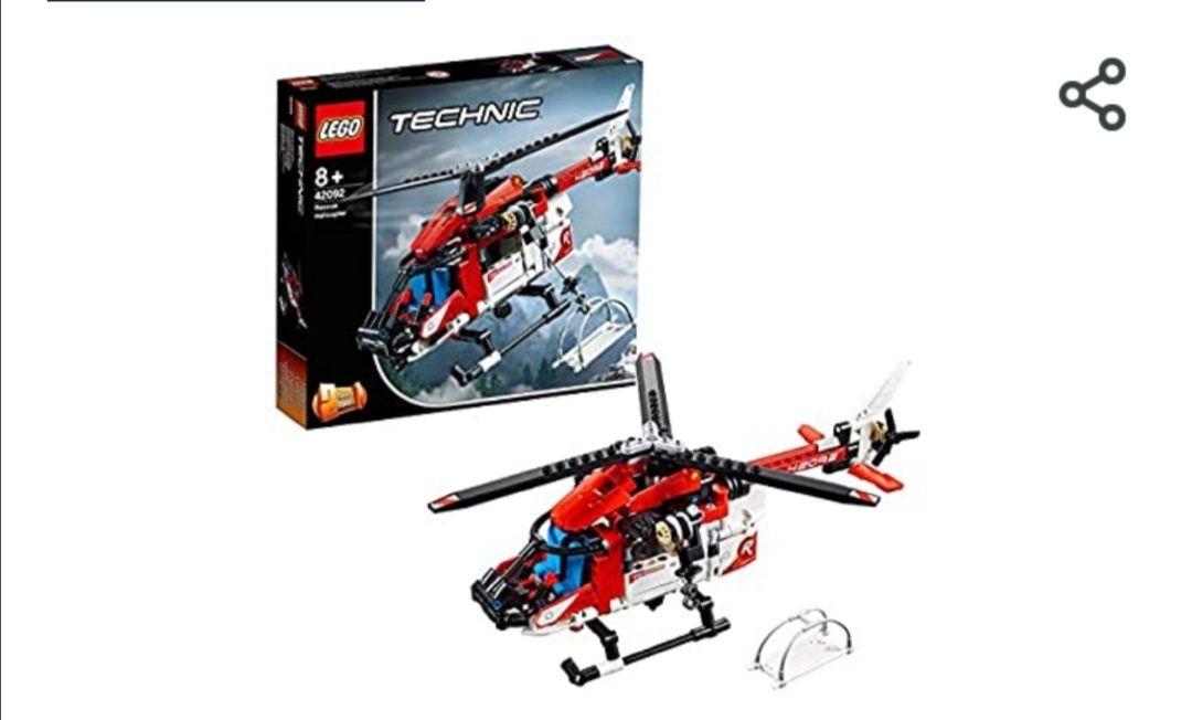 LEGO Technic - Helicóptero de Rescate, maqueta de juguete detallada para construir y crear aventuras en el aire (al tramitar)