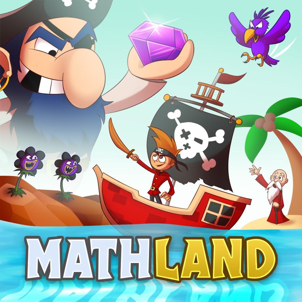 App educativa, MathLand Cálculo mental, suma, resta (Android)
