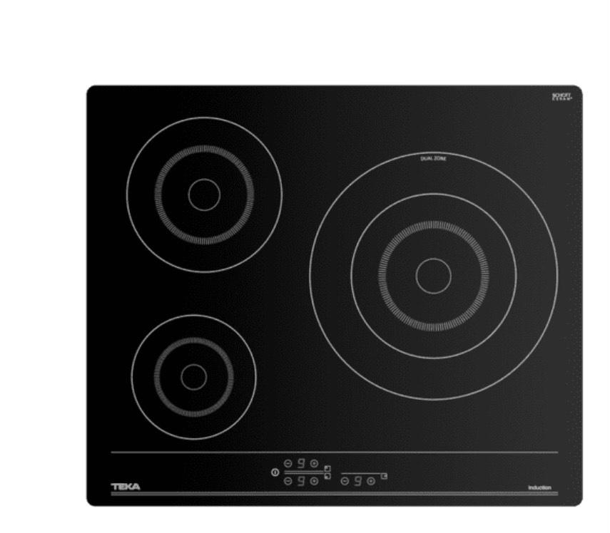 Teka IBC 63002 TTC, Inducción, 3 zonas, 28 cm, Negro