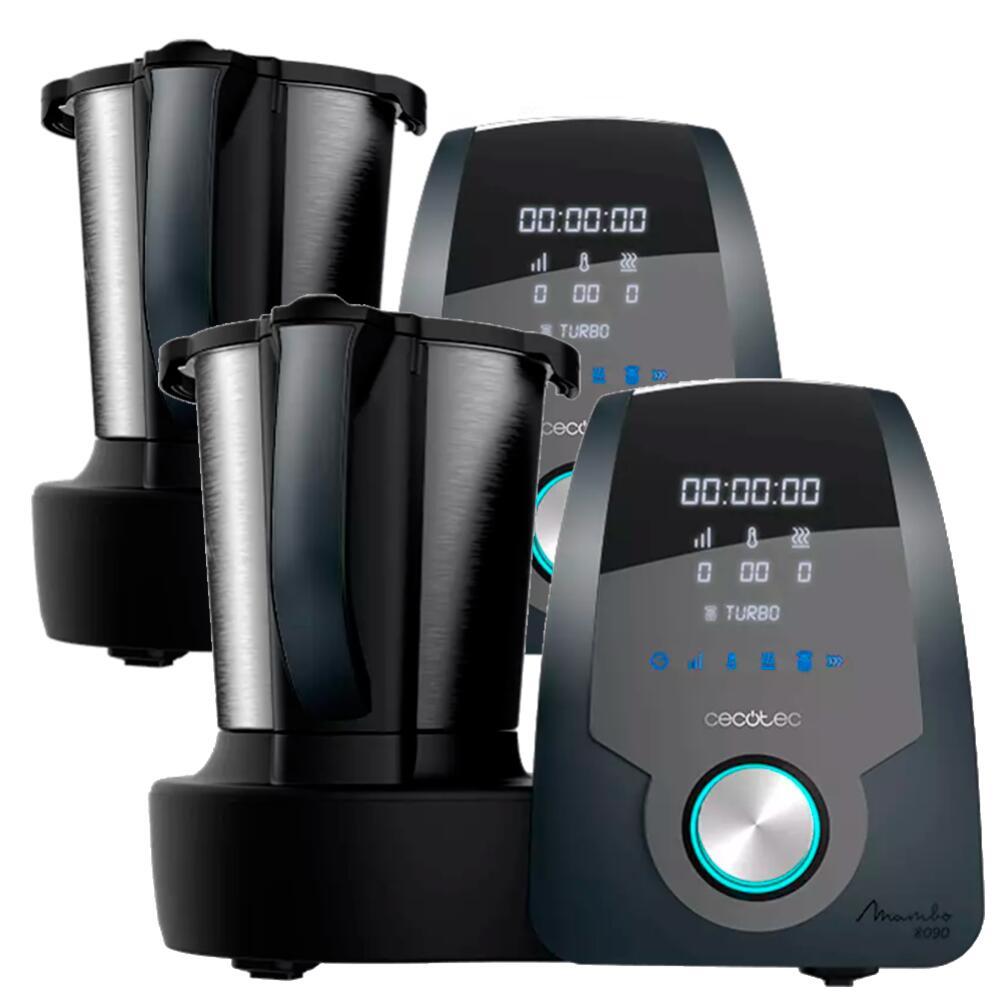 2 Robot de cocina (171,75€ la unidad con el descuento ) Cecotec Mambo 8090, 1700 W, 3.3 l, Acero Inoxidable, MamboMix, Negro