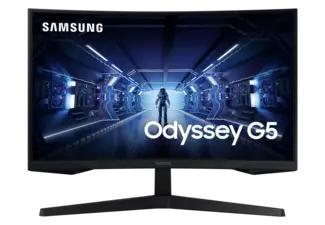 "Monitor - Samsung Odyssey LC27G55TQWUXEN, 27"" WQHD, Curvo, 1 ms, 144Hz, HDR10, HDMI, FreeSync, Negro"