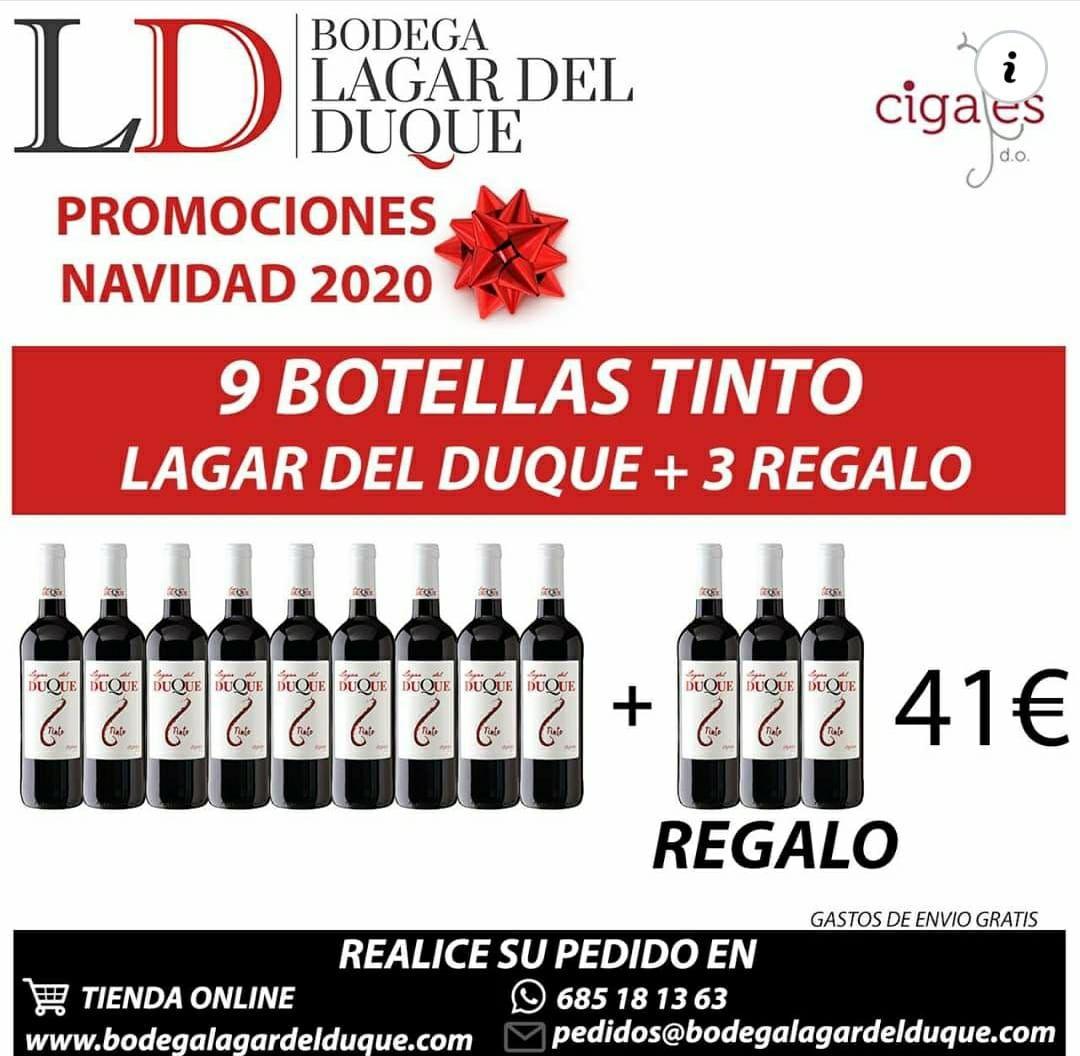 9 Botellas Tinto DO Cigales + 3 regalo.
