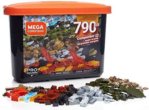 Mega Construx Caja PRO de 790 piezas (compatibles con Lego)