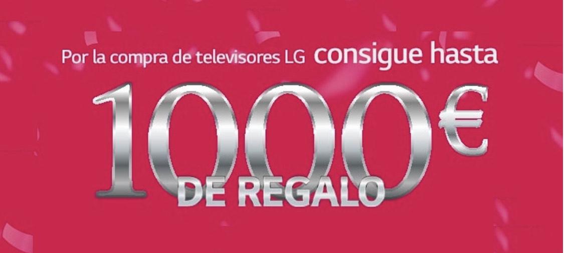 Hasta 1000€ de regalo en la compra de tv LG