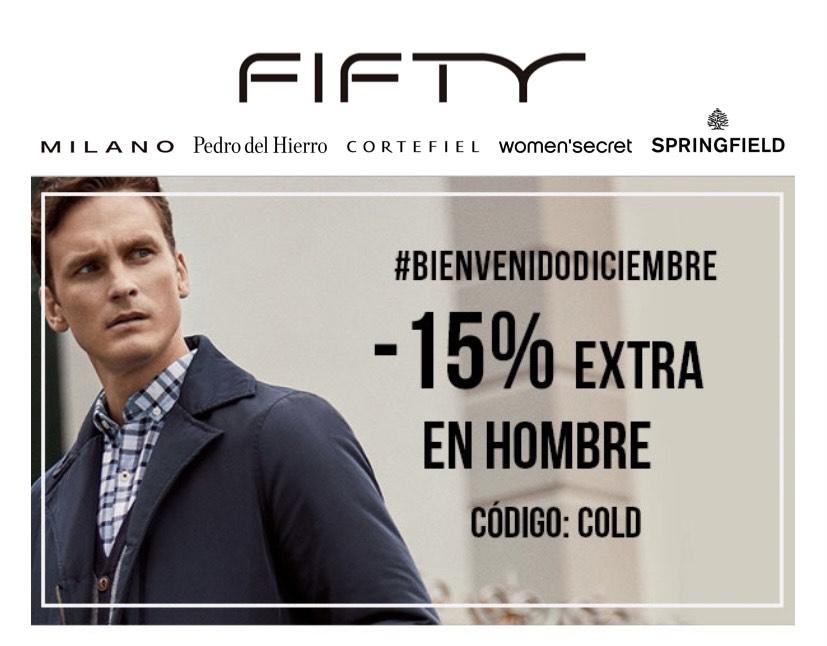 Descuento extra de un 15% en ropa de hombre