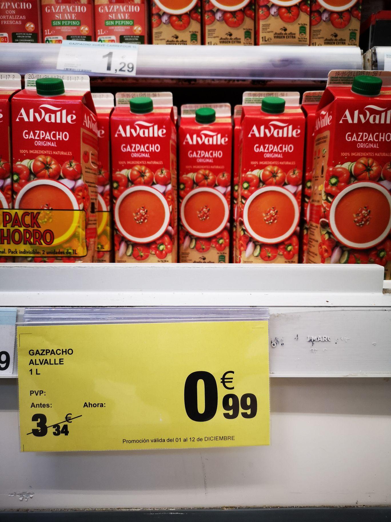 Gazpacho Alvalle 1litro