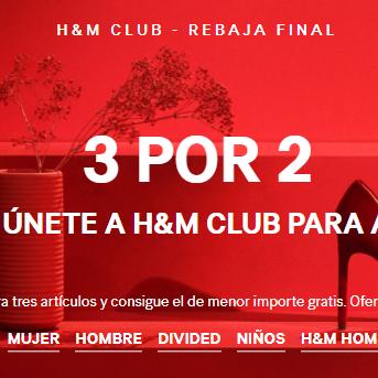 3x2 en rebajas H&M