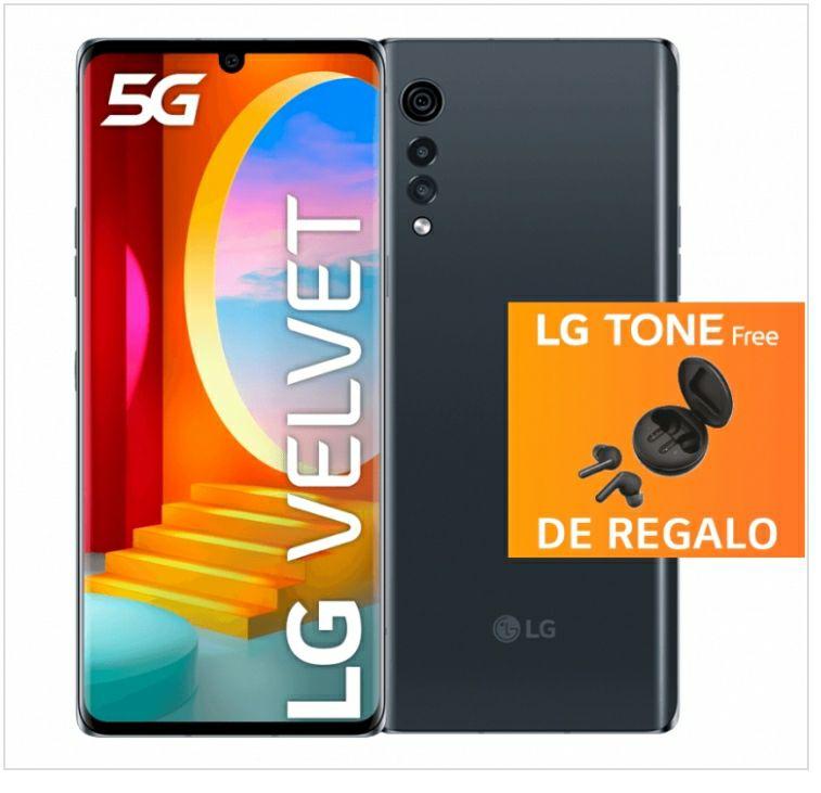 LG VELVET 5G + LG TONE (Valorados en 149€) y 5 años de garantía