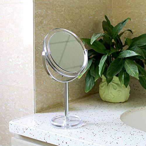 Auxmir Espejo Aumento 1X / 10X, de Doble Cara con Rotación de 360° (maquillaje, afeitado...)