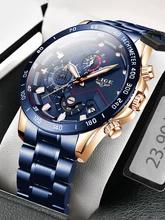 Reloj De Cuarzo Azul Para Hombre