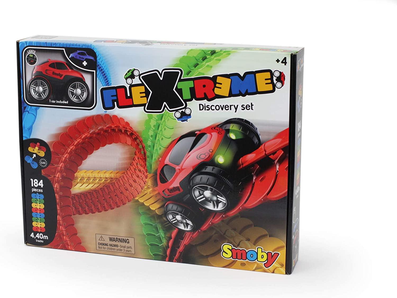 Flextreme - Set Coche con pista personalizada de hasta 4.4 metros