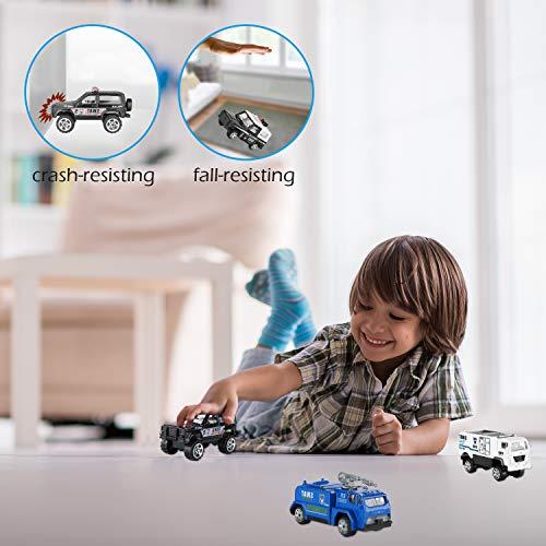 Hautton 6 Vehículos de Juguete Fundidos, Mini Modelo Aleación Vehicular
