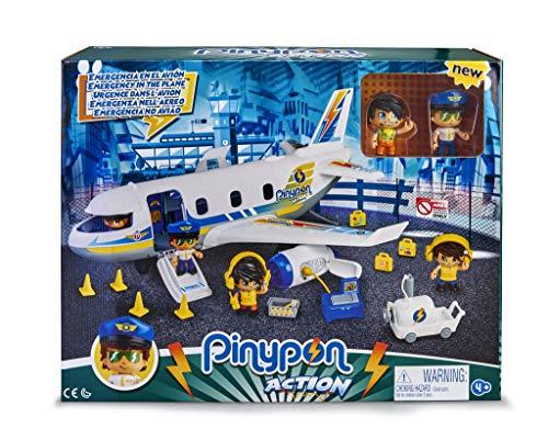 Pinypon Action- Emergencia en el avión con Dos Figuras y de Accesorios