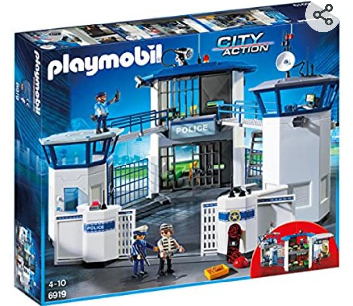 Comisaría de policía con prisión de Pláymobil compuesta de 256 piezas.