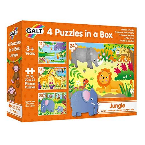 4 Puzzles progresivos infantiles +3 años