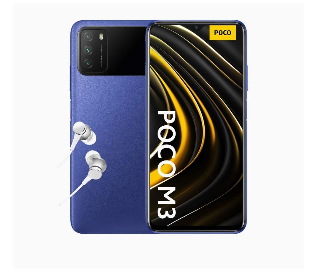 Poco M3 AZUL 4 GB/64 GB ( con auriculares )