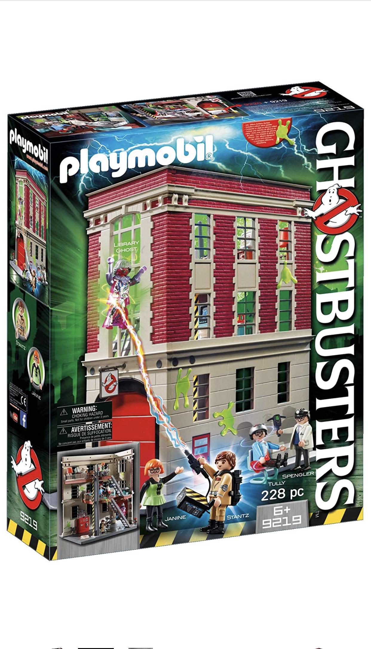 Playmobil cuartel parque bomberos Ghostbusters