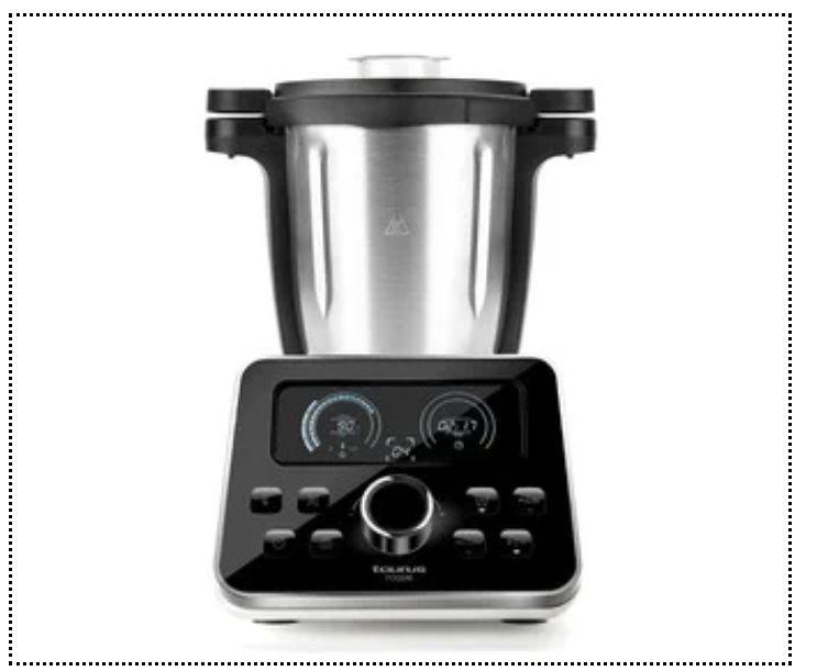 Robot de cocina TAURUS Foodie, 1500W, 3,5L, temperatura 120ºC, 31 funciones, bascula, jarra apta lavavajillas.