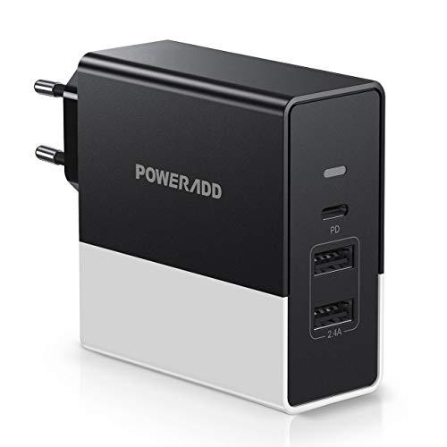 Cargador Poweradd 57W con USB-C + 2x USB y power delivery