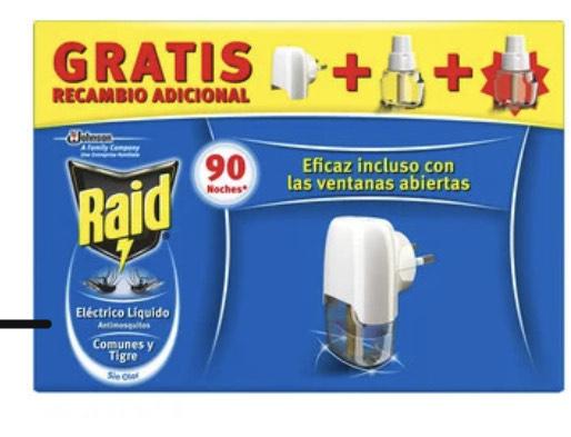 Raid anti mosquitos (aparato eléctrico + recambios)