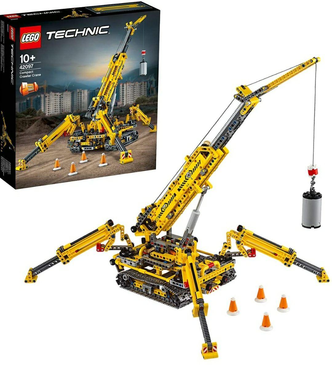 LEGO 42097 Technic Crawler Crane Grúa de Torre compacta, Juego de construcción 2 en 1