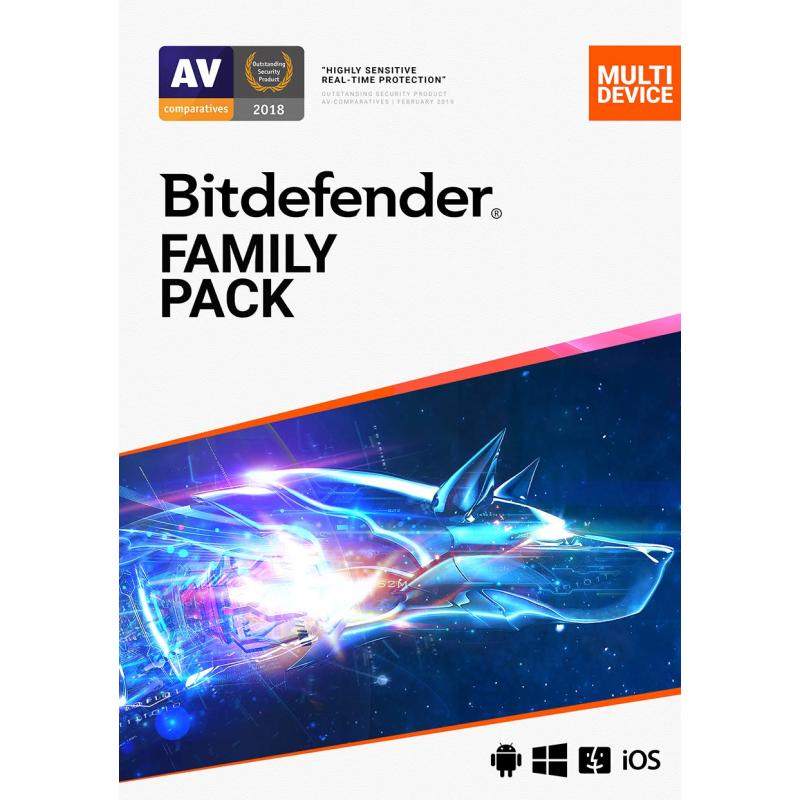 Antivirus Bitdefender Family Pack(2años,15 dispositivos)