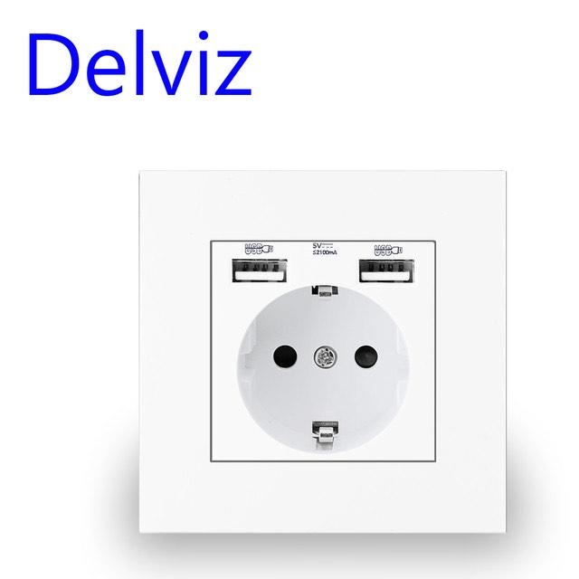 Enchufe de pared con 2 puertos USB
