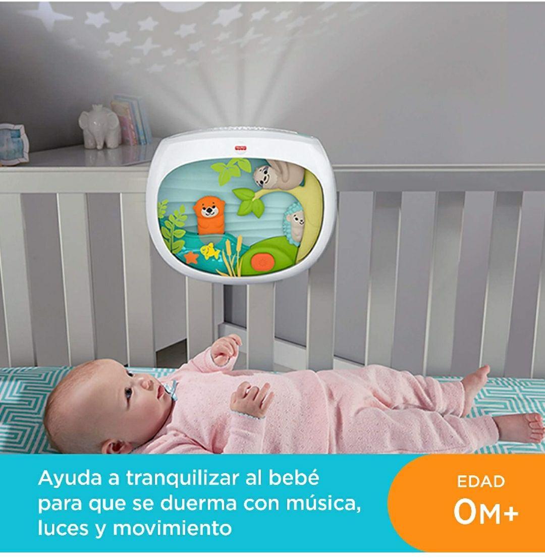 Fisher-Price - Proyector Animalitos, Juguete y Luz de Cuna para Bebé (Mattel FXC59)
