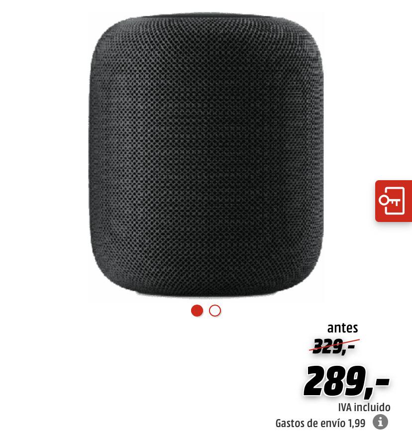 Homepod a 289€ en la Apple Night de Mediamarkt (sólo esta noche de 22h a 10h)