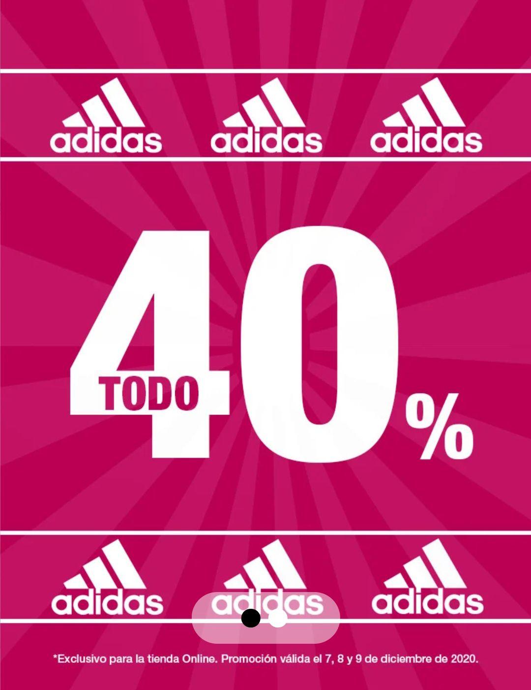 Forum Sport: 40% descuento en Adidas. Sólo web. Hasta el 9 de diciembre