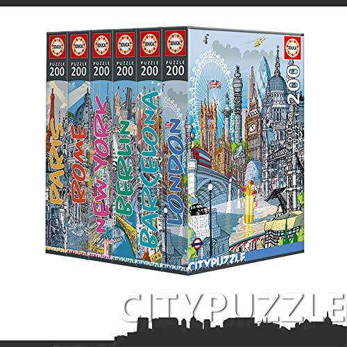 Educa Borras, Serie Citypuzzle 200 piezas a 5,59€ (2 tipos)