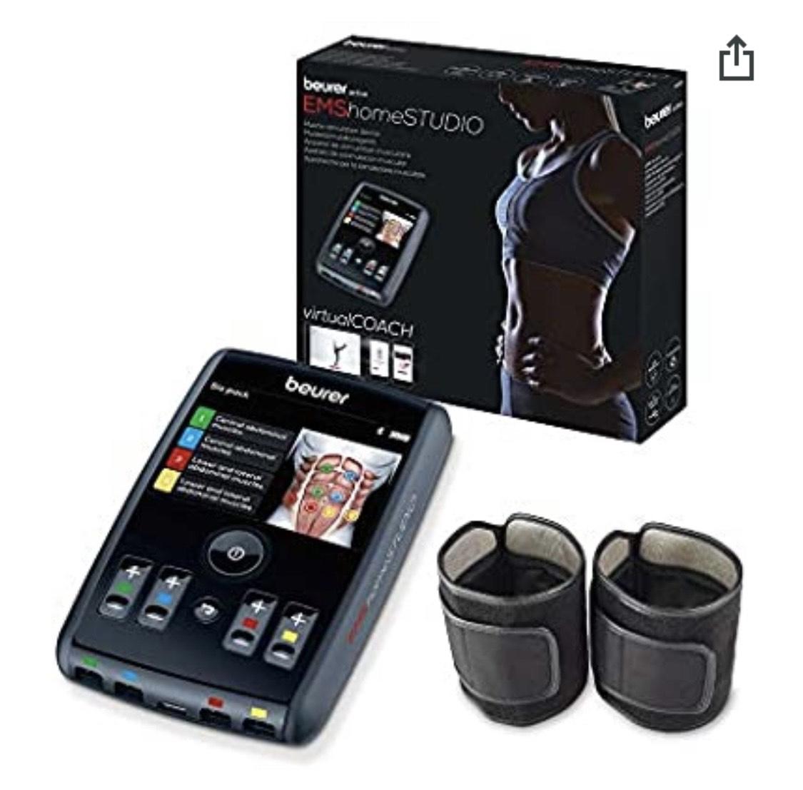 Beurer EM95 Electroestimulador Digital Cuerpo con Bluetooth, EMS