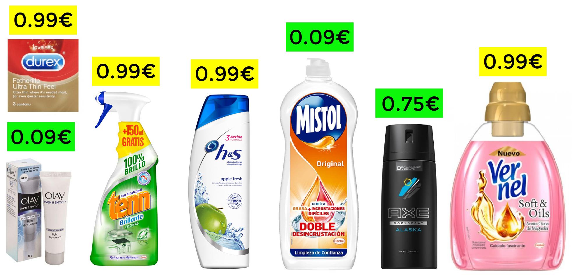 Más de 130 productos de Super a menos de 1€