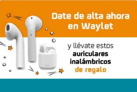 Gratis Auriculares o 2410 Puntos Travelclub por registrarte en Waylet