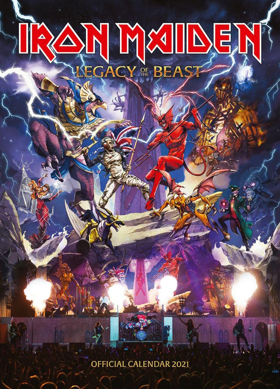 Calendario 2021 Iron Maiden. Legacy of the Beast