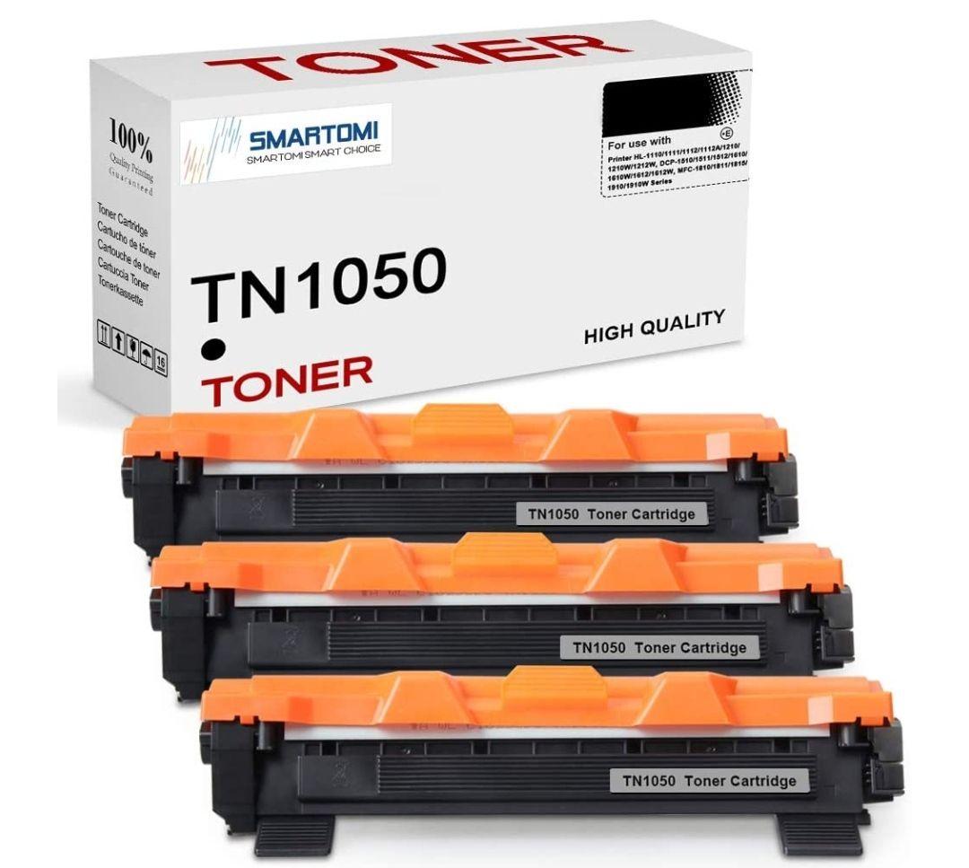 3 Cartuchos de tóner Negro compatibles con Cartuchos TN1050 para impresoras Brother de Las Series HL-DCP-MFC