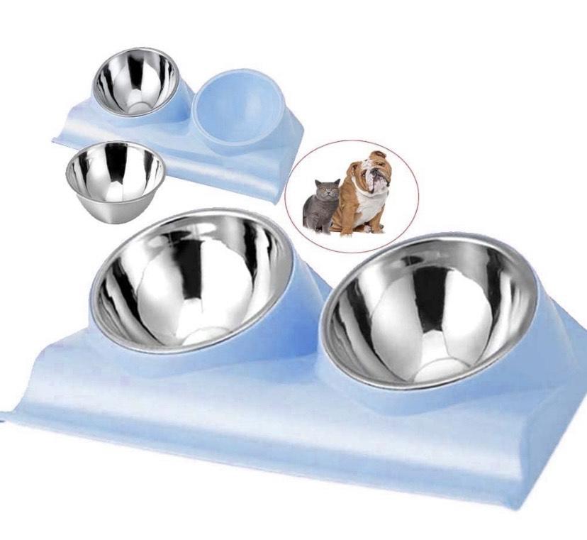 Cuencos inclinados para mascotas . Alimentación lenta