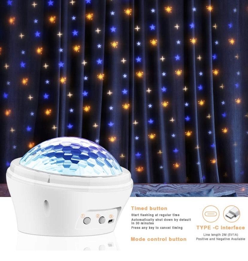 Proyector LED 3 en 1 Star Sky lámpara de proyección dinámica