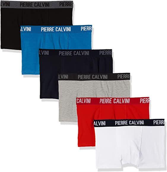 Pierre Calvini Signiture, Bóxer para Hombre Pack de 6 - (+ colores a elegir)