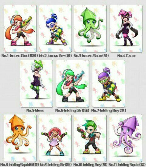 Tarjetas Amiibo Splatoon,Mario,Zelda