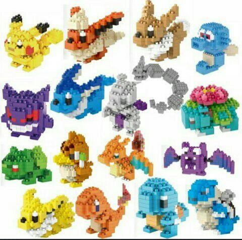 Figuras pokemon con bloques