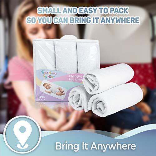 Cubiertas para cambiadores acolchadas altamente absorbentes (paquete de 3).