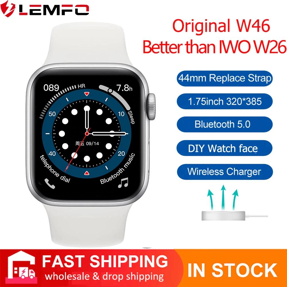 IWO-reloj inteligente W46 en blanco o negro, envío desde España