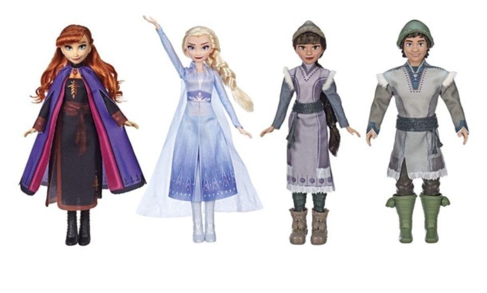 Pack Princesas Disney Anna y Elsa con campesinos Frozen II Disney